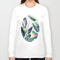 tropical Long Sleeve T-shirts featuring tropical #1 by LEEMO