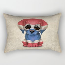 Cute Puppy Dog with flag of Thailand Rectangular Pillow