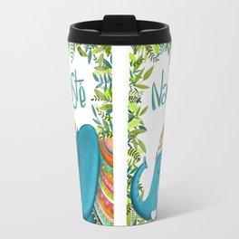 Namastey - Cute Elephant Illustration Travel Mug