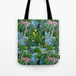 Succulents & Flowers Tote Bag