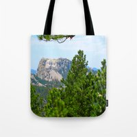 rushmore Tote Bags featuring Mt. Rushmore by Irislynn