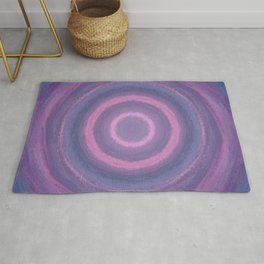 Pink and Purple Rings Rug