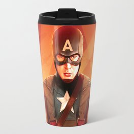 Captain The First  Avenger America by Big Foot Studios Travel Mug