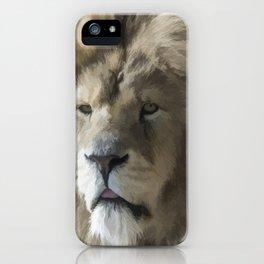 Lion Portrait Watercolour iPhone Case