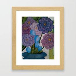 Blooms in Gray Framed Art Print