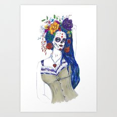 Scull Candy Lady Art Print