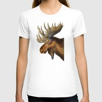 moose T-shirts featuring Moose by Tim Jeffs Art