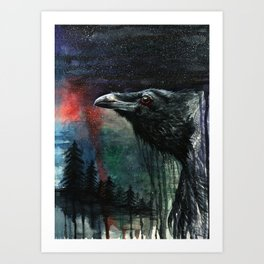 Flying Over the Forest Art Print