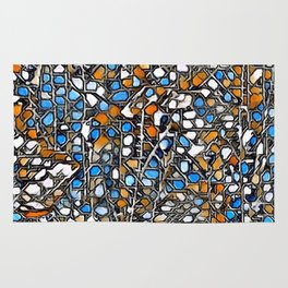 Awesome abstract mosaic A Rug