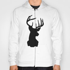 Black & White Stag Head Hoody