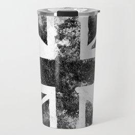 Black Grunge UK Flag Travel Mug