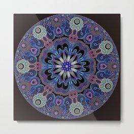 Black and purple kaleidoscopic desing Metal Print