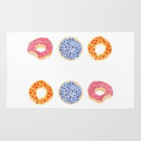 doughnut Area & Throw Rugs featuring doughnut selection by cardboardcities