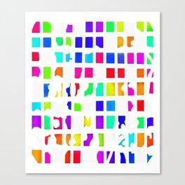 Rainbow Pixel Fashion Canvas Print