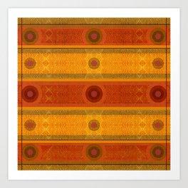 """Ethnic Pattern Warm Tones II"" Art Print"