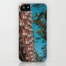 Urban Brooklyn apartment in New York iPhone Case
