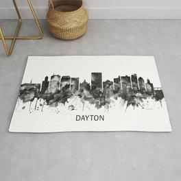 Dayton Ohio Skyline BW Rug