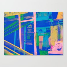 Industrial Abstract Blue 2 Canvas Print