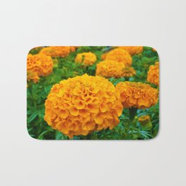 Marigolds in Spring Bath Mat