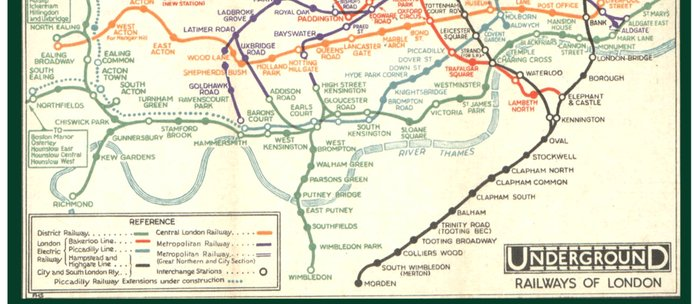 Vintage London Underground Map Coffee Mug By Londondays Society6