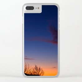 Sunset over the roofs Clear iPhone Case