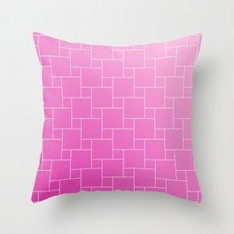 PINK BRICKS Throw Pillow