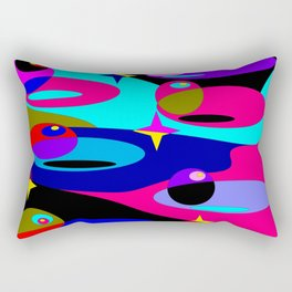 Planets and Stars in Darker Tones Rectangular Pillow