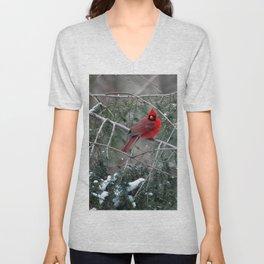 Winter Cardinal Unisex V-Neck