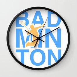 Love Sport - Badminton Design Wall Clock