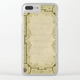 Book Quote 3 Clear iPhone Case