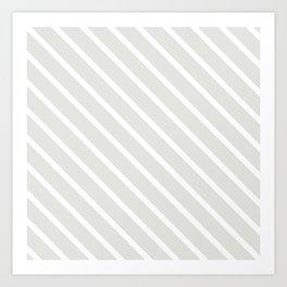 Ice Diagonal Stripes Art Print