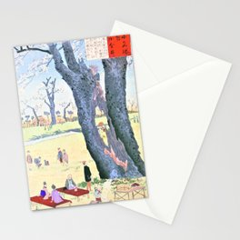 Kobayashi Kiyochika - Sketches of the Famous Sights of Japan - Koganei, Cherry Blossoms - Digital Remastered Edition Stationery Cards
