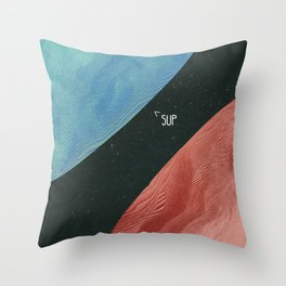 Earth collides with mars Throw Pillow