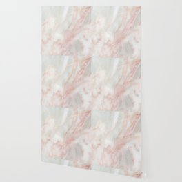 Softest blush pink marble Wallpaper