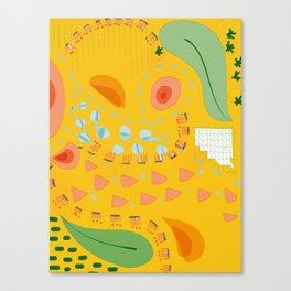Yellow sunshine darling   Home decor   Happy art Canvas Print