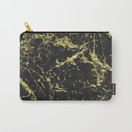 Black and Gold Marble Carry-All Pouch