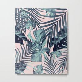 Tropical Jungle Leaves Pattern #8 #tropical #decor #art #society6 Metal Print