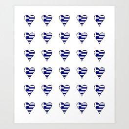 Flag of greece 3-Greek, Ελλάδα,hellas,hellenic, athens,sparte,aristotle. Art Print