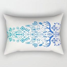 La Vie & La Mort – Blue Ombré Rectangular Pillow