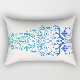 La Vie & La Mort – Blue Ombré Rectangular Pillow