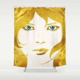 24 Karat Babe Shower Curtain