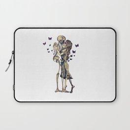 Always Kiss Goodnight Skeletons Laptop Sleeve