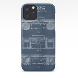 Boombox blueprints iPhone Case