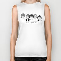 the strokes Biker Tanks featuring The Strokes by ☿ cactei ☿