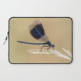 Banded Demioselle On Grass Laptop Sleeve