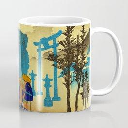 Travelers at Mishima Shrine Japan Coffee Mug