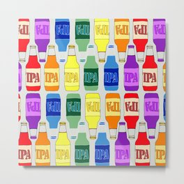 RAINBOW IPA BEER PATTERN Metal Print
