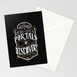 Lab No. 4 - Mistakes are the portals of discovery - James Joyce Corporate Startup Quotes Poster Stationery Cards