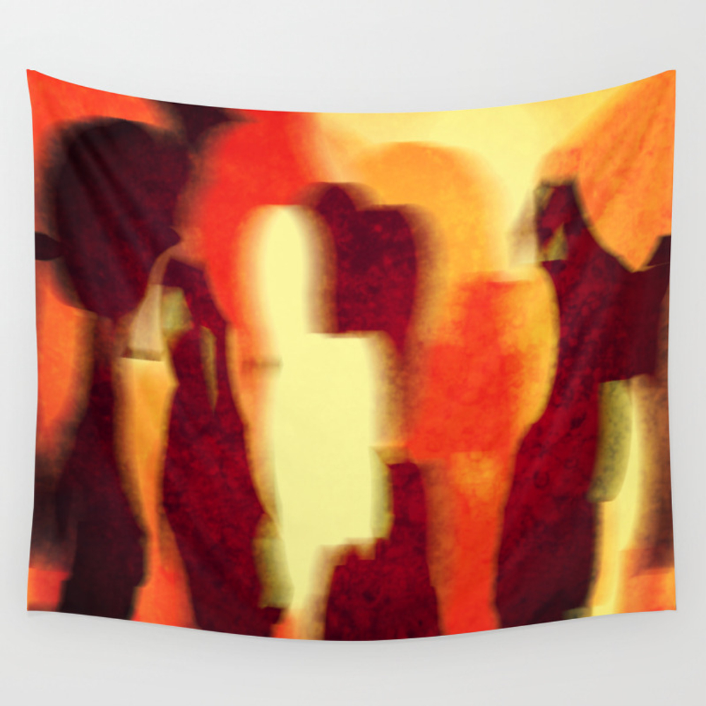 Shadow People Wall Tapestry by Lindamillar TPS6155625