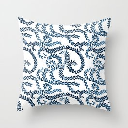 Mexican Talavera inspired pattern Throw Pillow